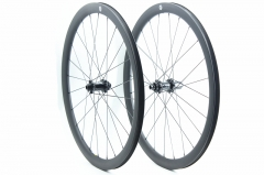 Kaze Disc 28mm(wide) Carbon-ti X-hub built tubeless wheel set 24H/24H
